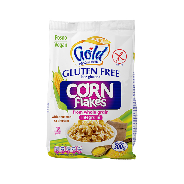 GOLD PANON GRAIN Gluten free Corn Flakes Integralni